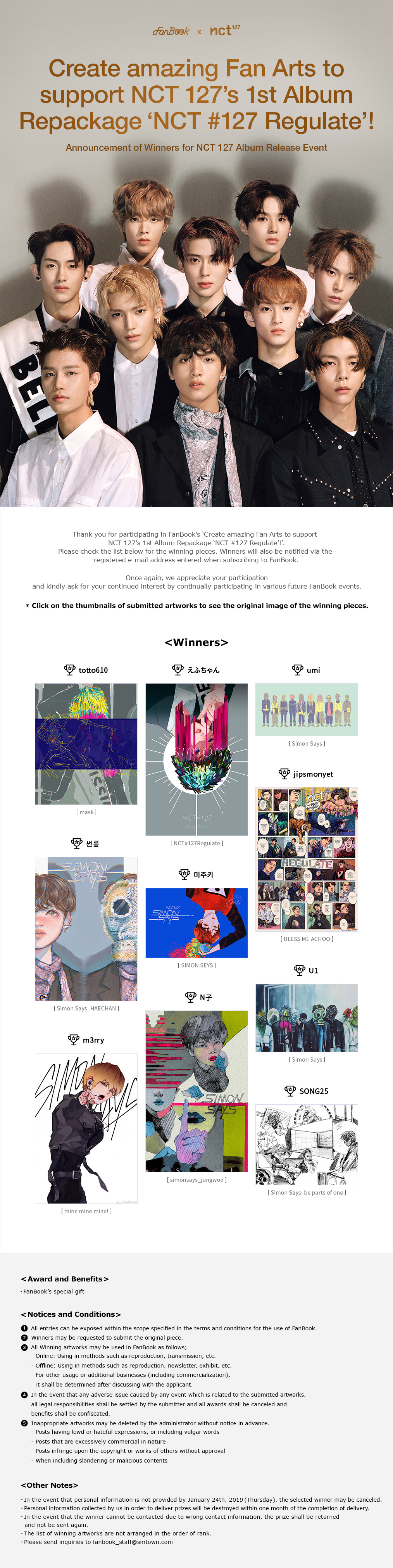 FanBook X nct 127 Fan Art Event